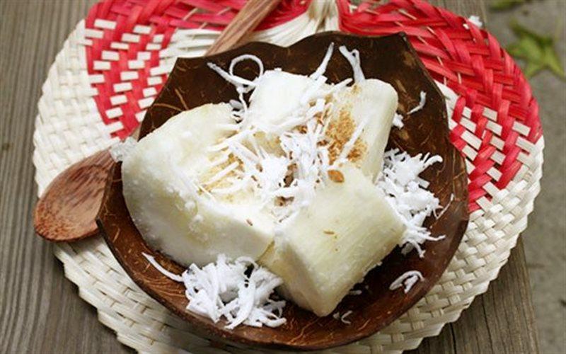 cách làm khoai mì nước cốt dừa